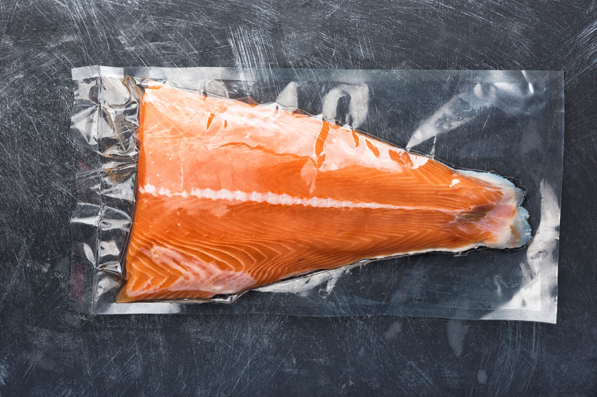 Salmon Fish Vacuum Packed