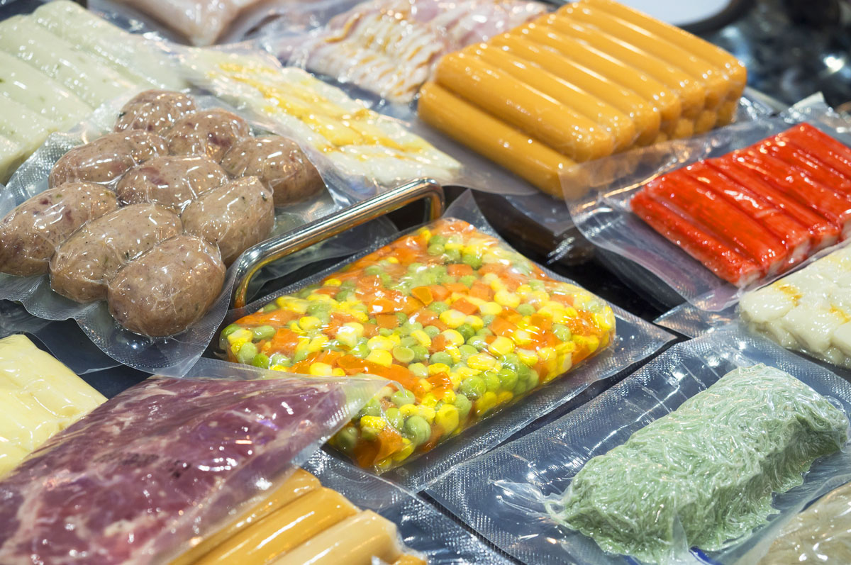 Variety of Foods Vacuum Packed
